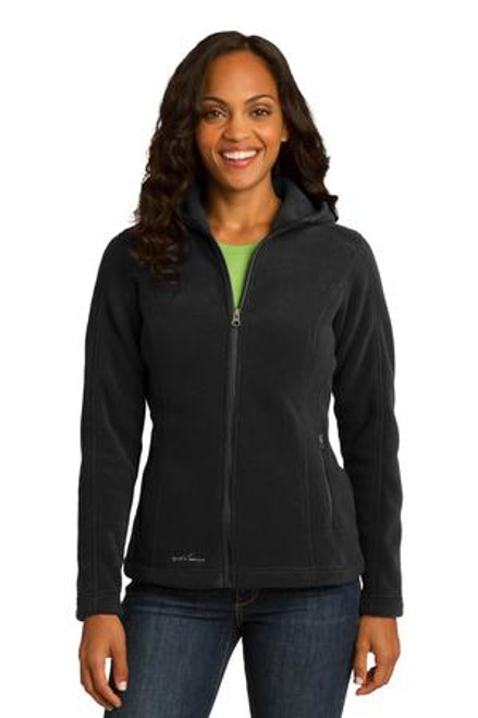 Discontinued Eddie Bauer Ladies Hooded Full-Zip Fleece Jacket (02228-25); Primary; Decoration Type: