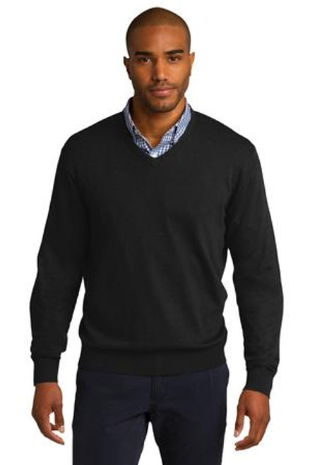 Port Authority V-Neck Sweater (00931-25); Primary; Decoration Type:
