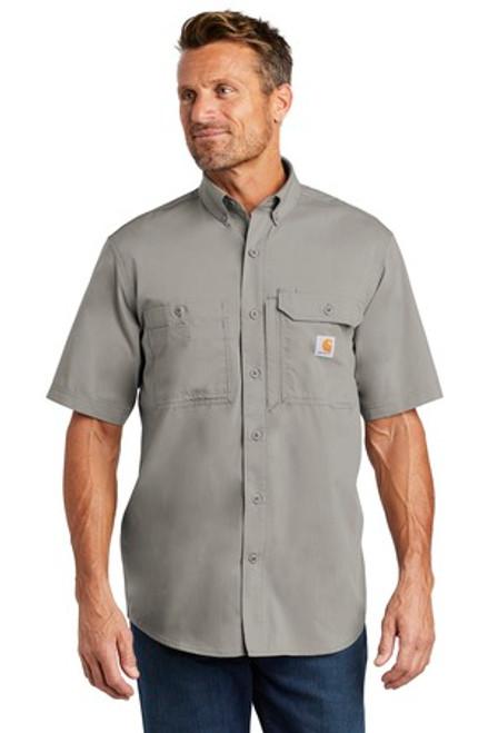 Carhartt Force Ridgefield Solid Short Sleeve Shirt (00995-25); Primary; Decoration Type: