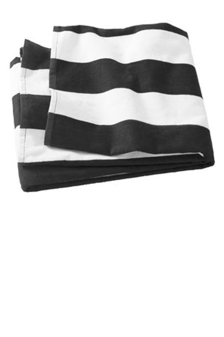 Port Authority Cabana Stripe Beach Towel (01888-25); Primary; Decoration Type: