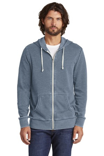 Alternative Burnout Laid-Back Zip Hoodie (00126-25); Primary; Decoration Type: