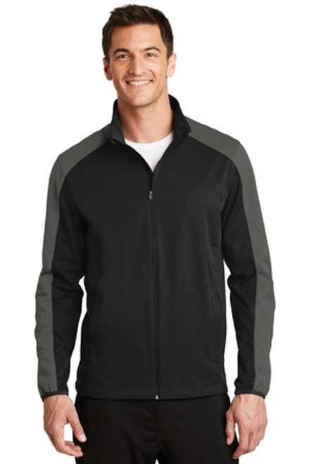 Port Authority Active Colorblock Soft Shell Jacket (00971-25); Primary; Decoration Type: