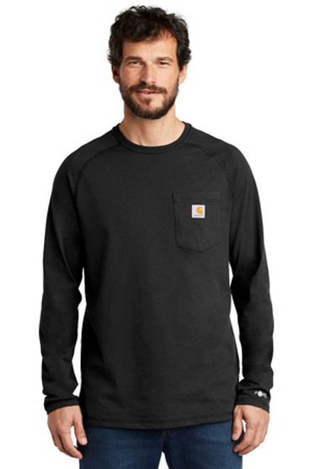 Carhartt Force Cotton Delmont Long Sleeve T-Shirt (01368-25); Primary; Decoration Type: