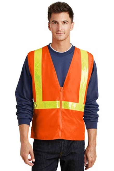 Port Authority Enhanced Visibility Vest (01919-25); Primary; Decoration Type: