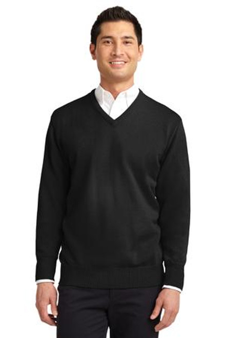 Discontinued Port Authority Value V-Neck Sweater (01322-25); Primary; Decoration Type: