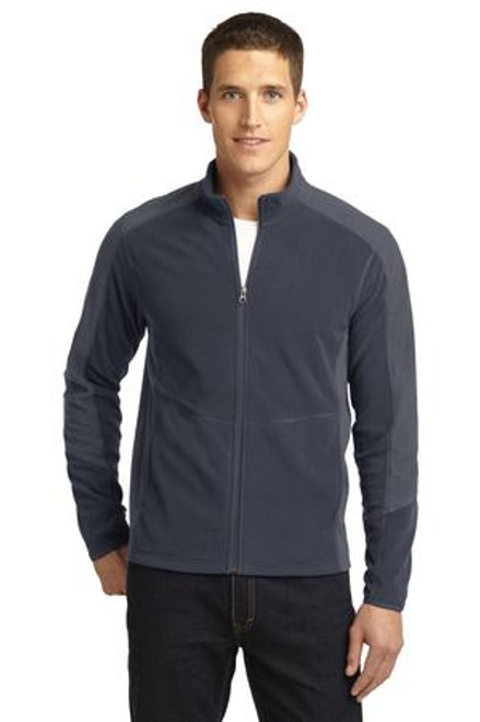 Port Authority Colorblock Microfleece Jacket (01611-25); Primary; Decoration Type: