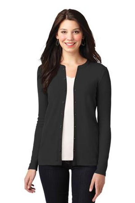 Port Authority Ladies Concept Stretch Button-Front Cardigan (00848-25); Primary; Decoration Type:
