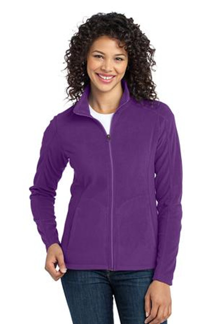 Port Authority Ladies Microfleece Jacket (00341-25); Primary; Decoration Type: