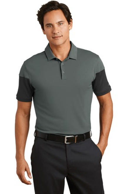 Discontinued Nike Dri-Fit Sleeve Colorblock Modern Fit Polo (01926-25); Primary; Decoration Type: