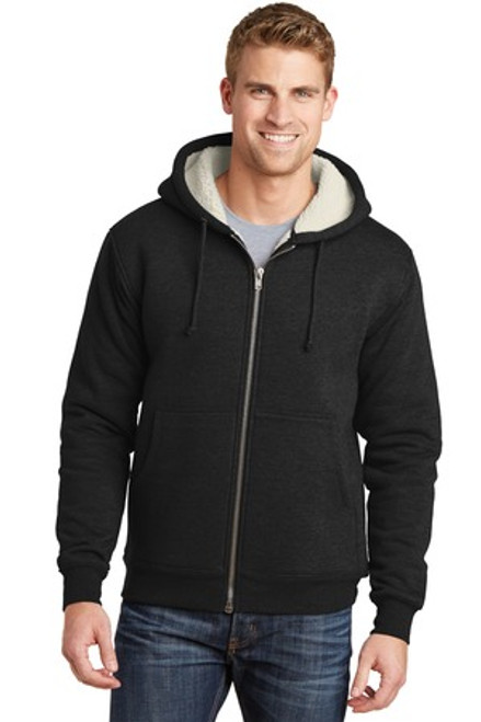 Cornerstone Heavyweight Sherpa-Lined Hooded Fleece Jacket (01044-25); Primary; Decoration Type: