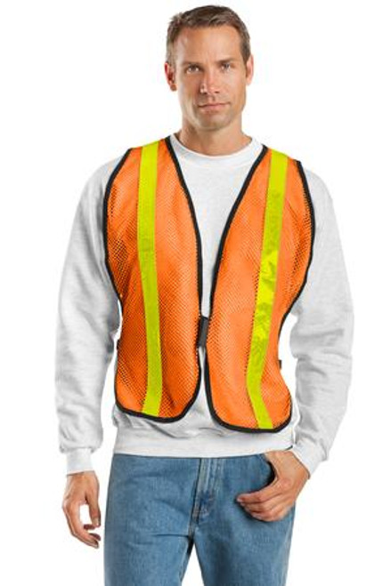 Port Authority Mesh Enhanced Visibility Vest (01079-25); Primary; Decoration Type: