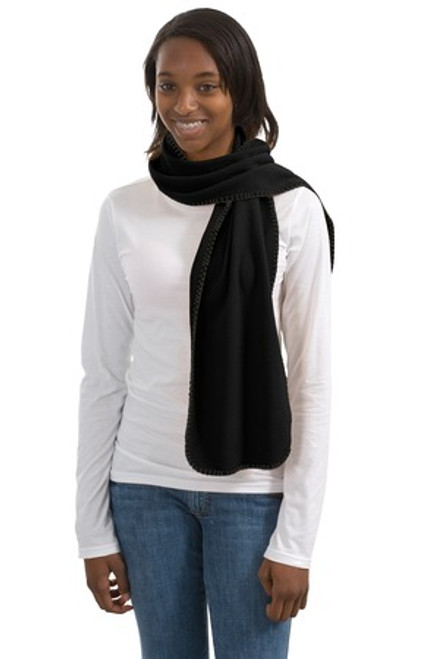Port Authority R-Tek Fleece Scarf (01655-25); Primary; Decoration Type: