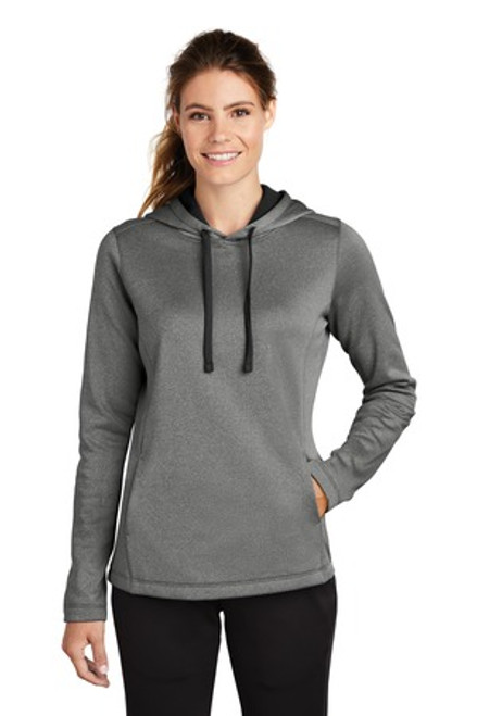 Sport-Tek Ladies Posicharge Sport-Wick Heather Fleece Hooded Pullover (01634-25); Primary; Decoration Type: