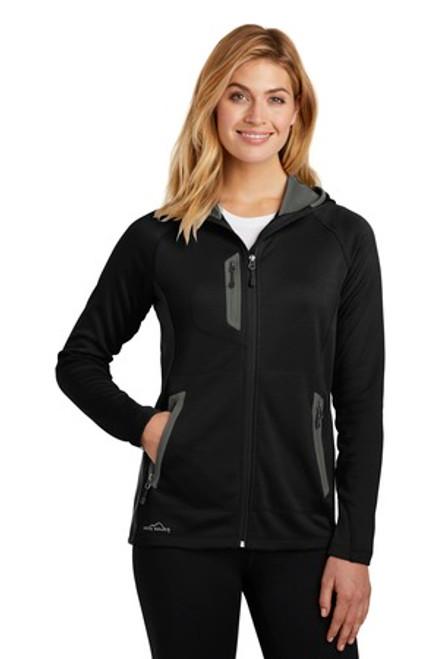 Eddie Bauer Ladies Sport Hooded Full-Zip Fleece Jacket (00195-25); Primary; Decoration Type: