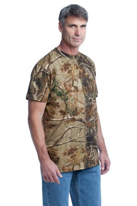 Russell Outdoors - Realtree Explorer 100% Cotton T-Shirt With Pocket (00161-25); Primary; Decoration Type: