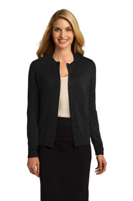 Port Authority Ladies Cardigan Sweater (00349-25); Primary; Decoration Type: