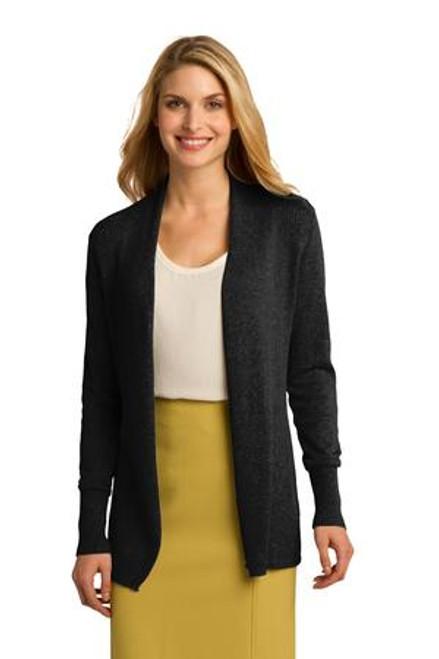 Port Authority Ladies Open Front Cardigan Sweater (00622-25); Primary; Decoration Type:
