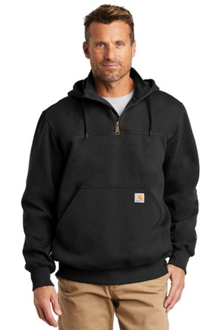 Carhartt Rain Defender Paxton Heavyweight Hooded Zip Mock Sweatshirt (01378-25); Primary; Decoration Type:
