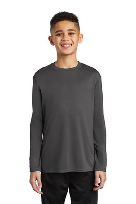 Port & Company Youth Long Sleeve Performance Tee (01254-25); Primary; Decoration Type: