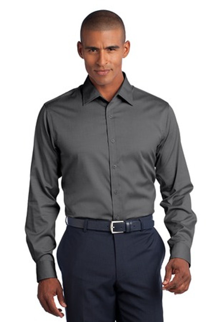 Discontinued Red House - Slim Fit Non-Iron Pinpoint Oxford Shirt (00856-25); Primary; Decoration Type: