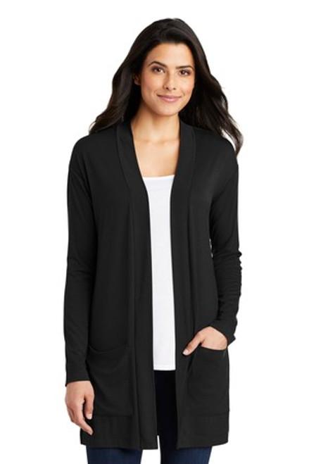 Port Authority Ladies Concept Long Pocket Cardigan  (01265-25); Primary; Decoration Type: