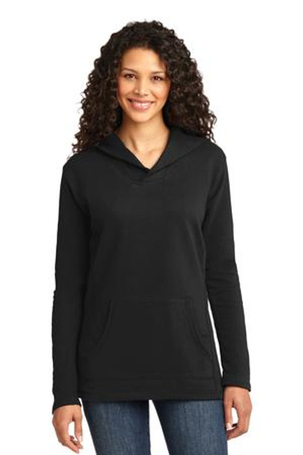 Anvil Ladies French Terry Pullover Hooded Sweatshirt (01607-25); Primary; Decoration Type: