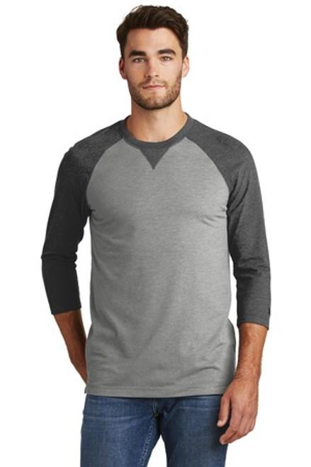 New Era Sueded Cotton Blend 3/4-Sleeve Baseball Raglan Tee (00997-25); Primary; Decoration Type: