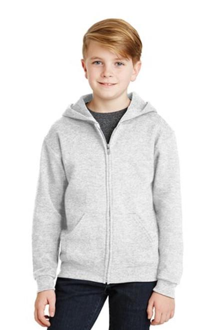 Jerzees - Youth Nublend Full-Zip Hooded Sweatshirt (00801-25); Primary; Decoration Type: