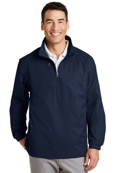 Discontinued Port Authority 1/2-Zip Wind Jacket (00947-25); Primary; Decoration Type: