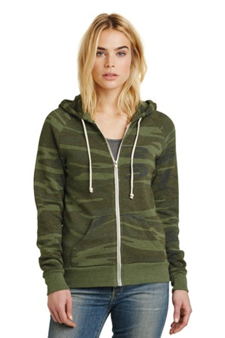 Alternative Women'S Adrian Eco -Fleece Zip Hoodie (01445-25); Primary; Decoration Type: