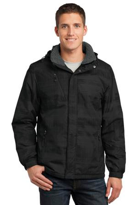 Port Authority Brushstroke Print Insulated Jacket (01917-25); Primary; Decoration Type: