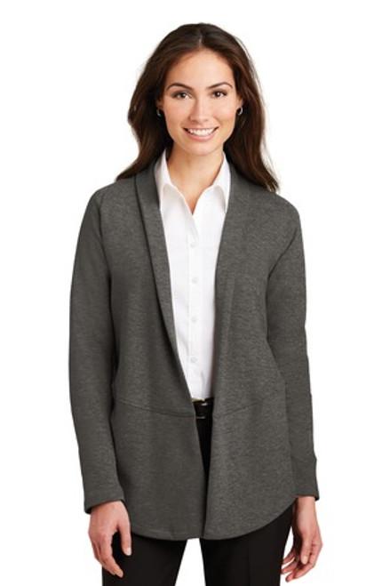 Port Authority Ladies Interlock Cardigan (02102-25); Primary; Decoration Type: