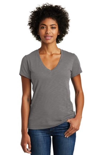 Alternative Women'S Weathered Slub So-Low V-Neck Tee (00683-25); Primary; Decoration Type: