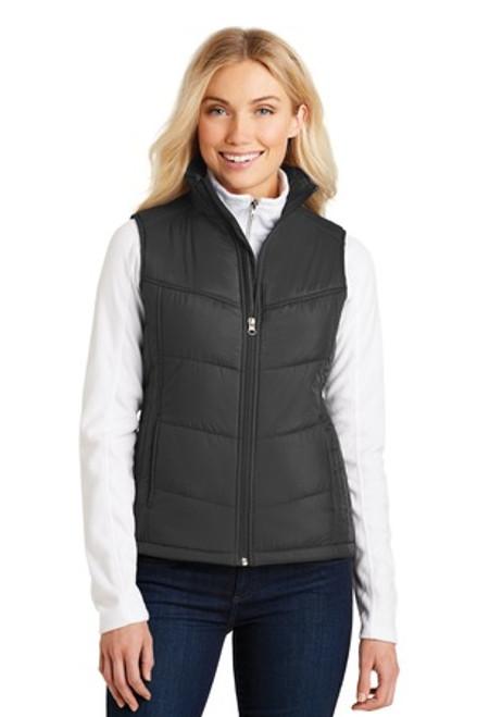 Port Authority Ladies Puffy Vest (02267-25); Primary; Decoration Type: