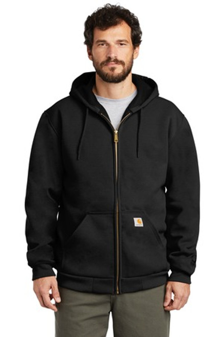 Carhartt Rain Defender Rutland Thermal-Lined Hooded Zip-Front Sweatshirt (01616-25); Primary; Decoration Type: