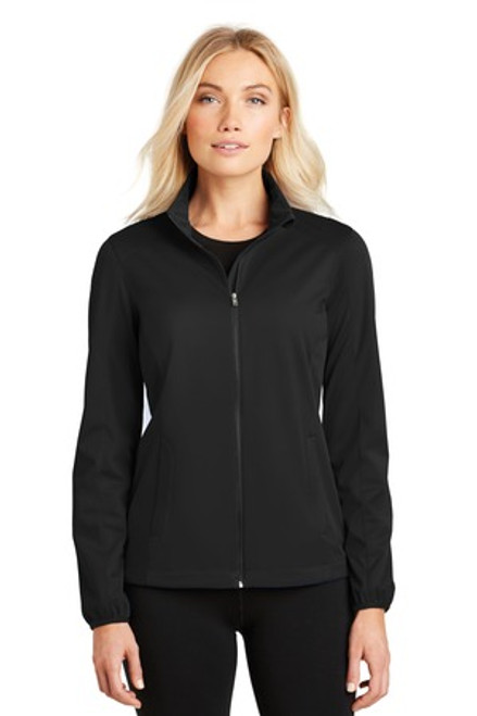 Port Authority Ladies Active Soft Shell Jacket (01520-25); Primary; Decoration Type: