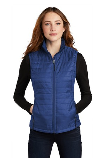 Port Authority Ladies Packable Puffy Vest (02300-25); Primary; Decoration Type: