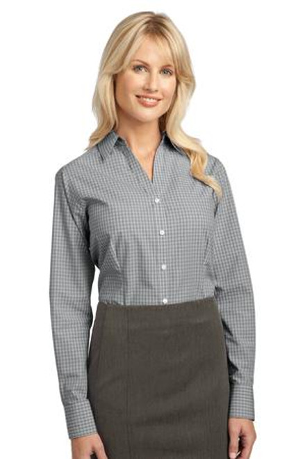 Port Authority Ladies Plaid Pattern Easy Care Shirt (02235-25); Primary; Decoration Type: