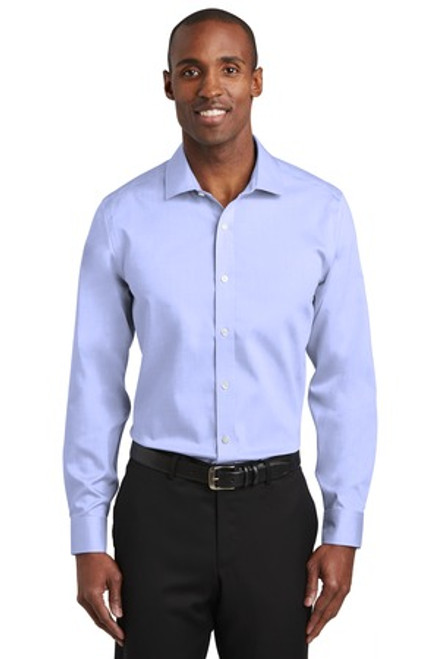 Red House Slim Fit Pinpoint Oxford Non-Iron Shirt (02086-25); Primary; Decoration Type: