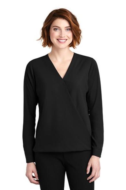 Port Authority Ladies Wrap Blouse (00199-25); Primary; Decoration Type: