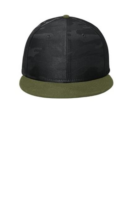 New Era Camo Flat Bill Snapback Cap (01963-25); Primary; Decoration Type: