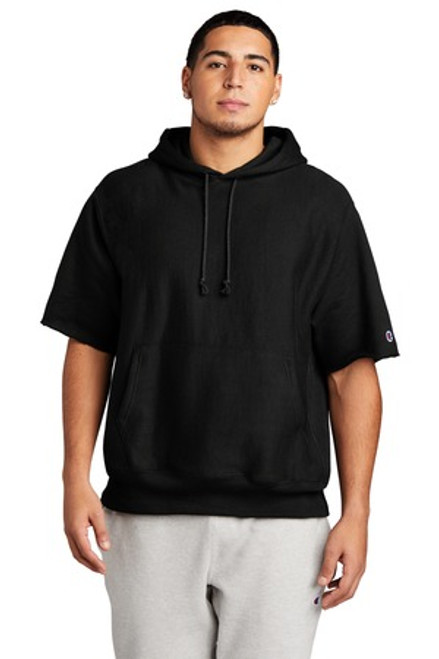 Champion Reverse Weave Short Sleeve Hooded Sweatshirt (01744-25); Primary; Decoration Type: