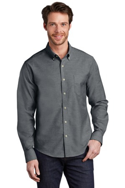 Port Authority Untucked Fit Superpro Oxford (02270-25); Primary; Decoration Type: