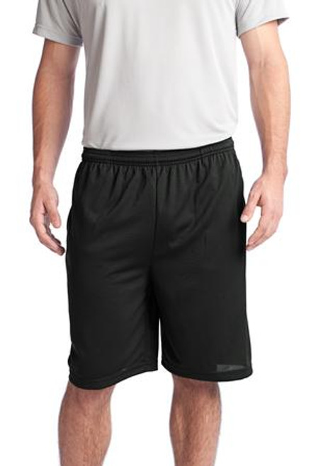 Sport-Tek Posicharge Tough Mesh Pocket Short (00184-25); Primary; Decoration Type:
