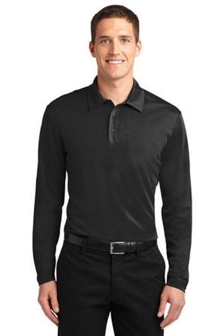 Port Authority Silk Touch Performance Long Sleeve Polo (01124-25); Primary; Decoration Type: