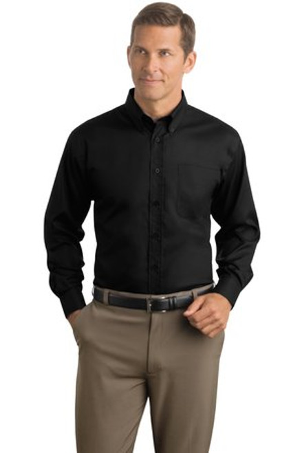 Discontinued Red House - Herringbone Non-Iron Button-Down Shirt (01858-25); Primary; Decoration Type: