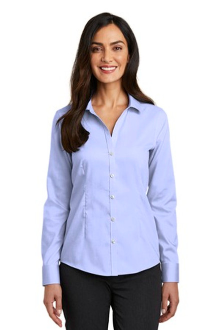 Red House Ladies Pinpoint Oxford Non-Iron Shirt (00453-25); Primary; Decoration Type: