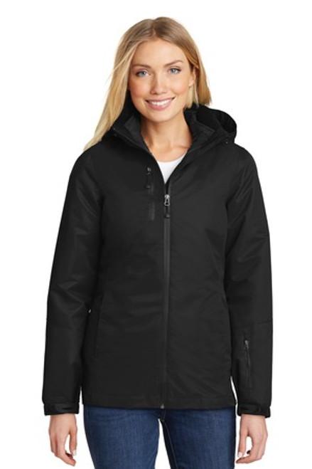 Port Authority Ladies Vortex Waterproof 3-In-1 Jacket (02302-25); Primary; Decoration Type: