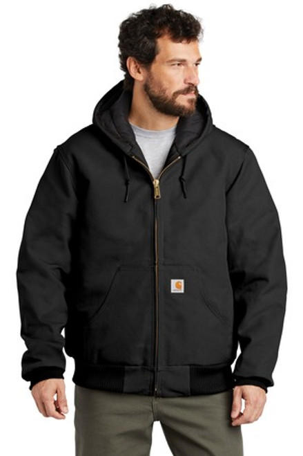 Carhartt Quilted-Flannel-Lined Duck Active Jac (00967-25); Primary; Decoration Type: