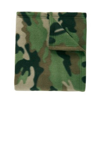 Discontinued Port Authority Core Printed Fleece Blanket (00133-25); Primary; Decoration Type: